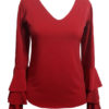 Blusa Flamenca Petúnia Decotada Vermelha