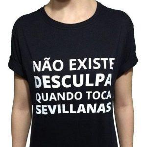 Camiseta preta sevillanas