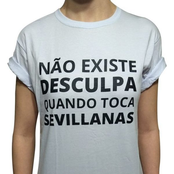 Camiseta branca sevillanas