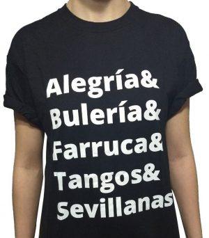 Camiseta preta alegrias