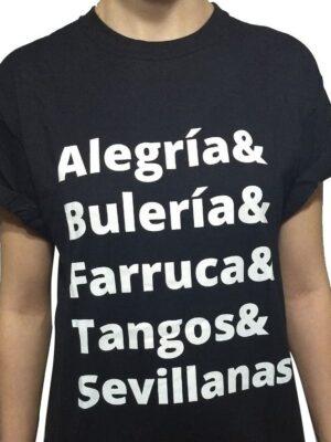 Camiseta Flamenca Alegrias Preta