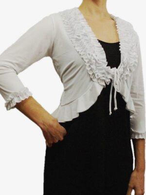 Casaco Flamenco Frufru Raquel Branco