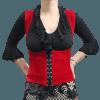 Colete Flamenco Cigano Veludo Vermelho