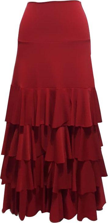 Saia Flamenca Gérbera Vermelha