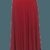 Saia Flamenca Hibisco Vermelha Babado Preto
