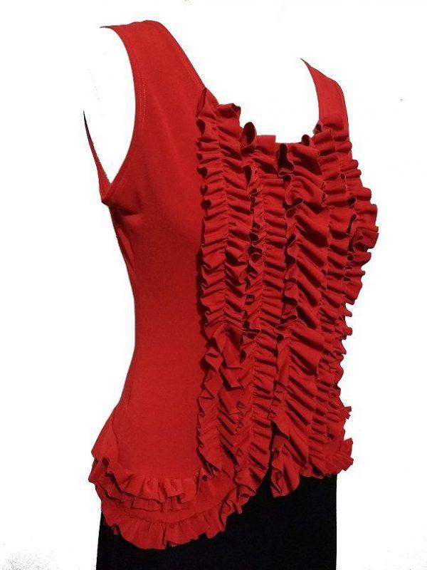 Regata Flamenca Camélia Frufru Vermelha