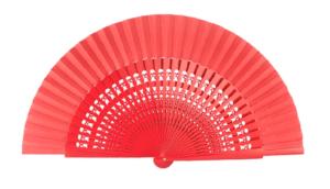 Leque abanico médio 23cm - desenho vazado várias cores - Vermelho