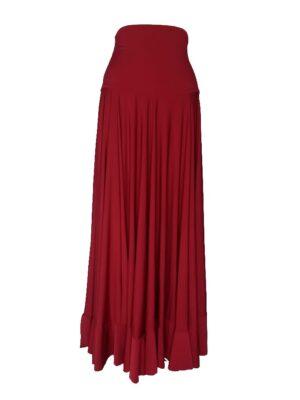 Saia Flamenca Hibisco Vermelha