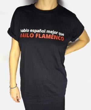 Camiseta preta hablo español