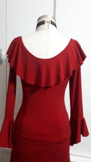 Blusa Flamenco Kali Vermelha