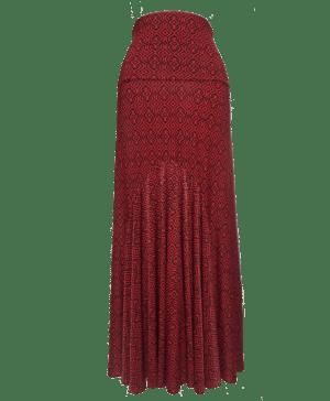 Saia Alamanda Vermelha Estampa Geométrica